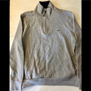 Lacoste Men's Half ZIP Sweater Gray Size XL